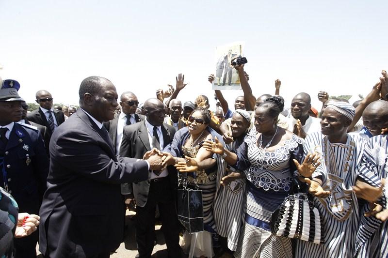 Visite du Président Ouattara dans la région Bianoise dans Culture ado-biankouma